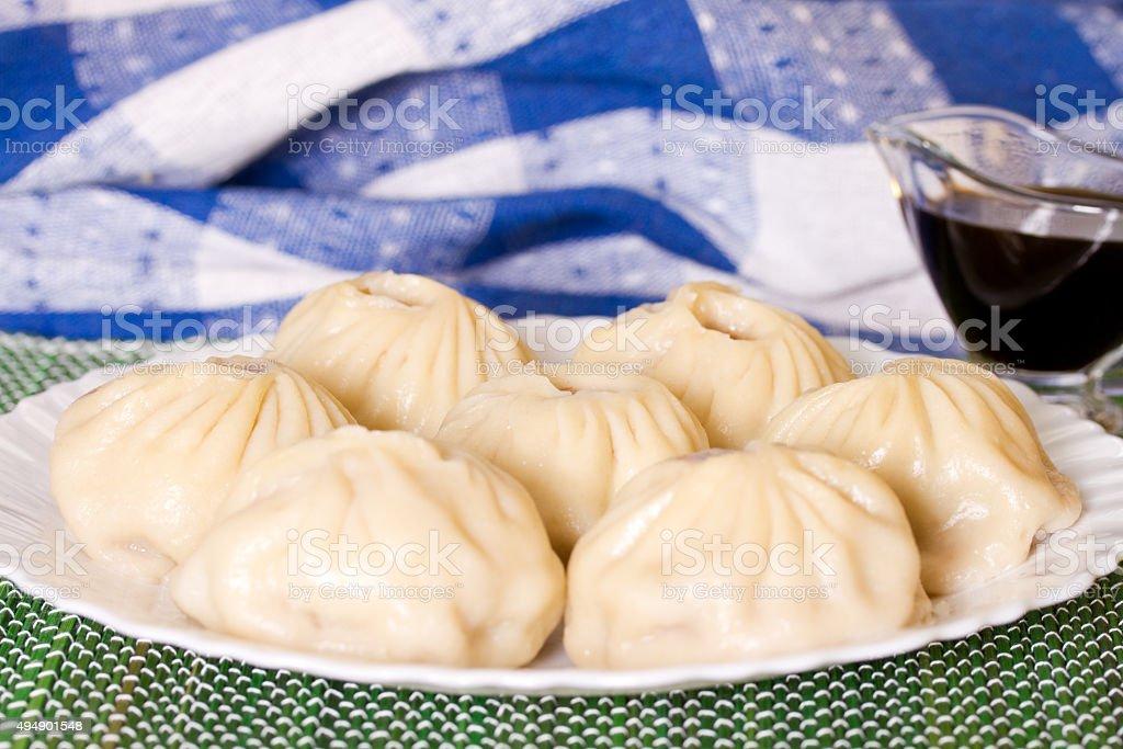 Buryat buuzy stock photo