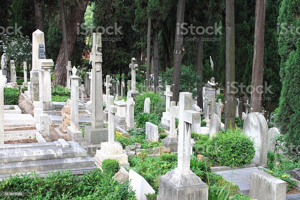 Burying ground royalty-free stock photo