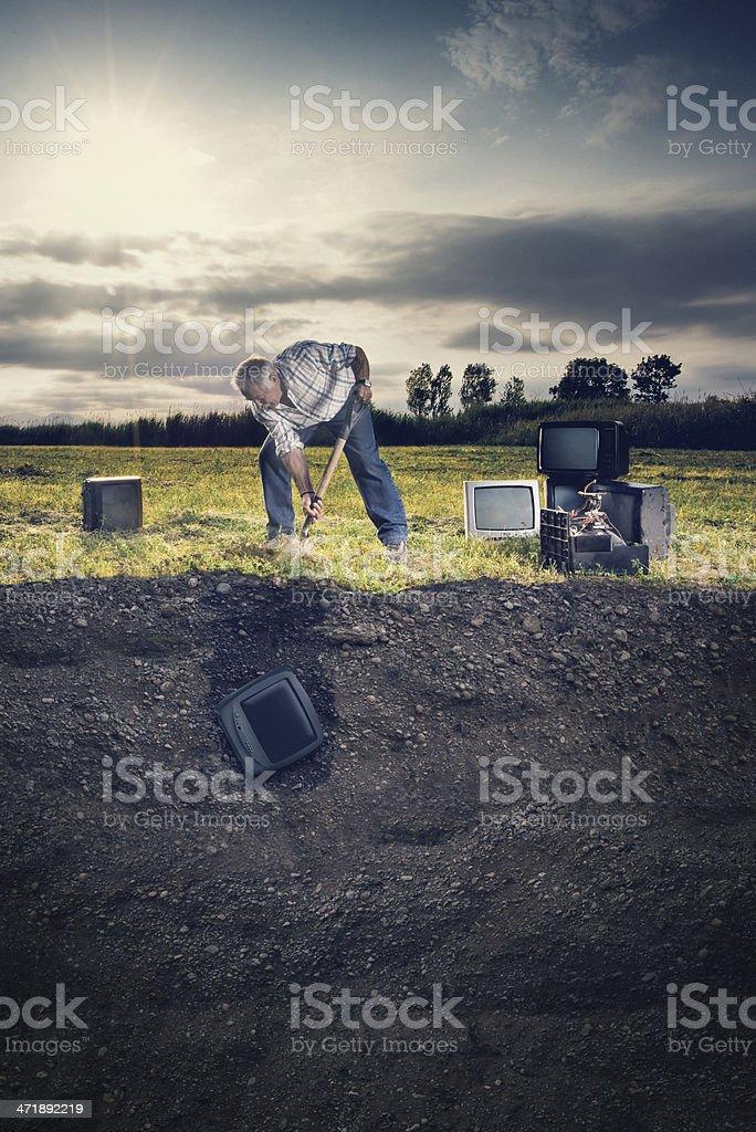 Burying memories stock photo