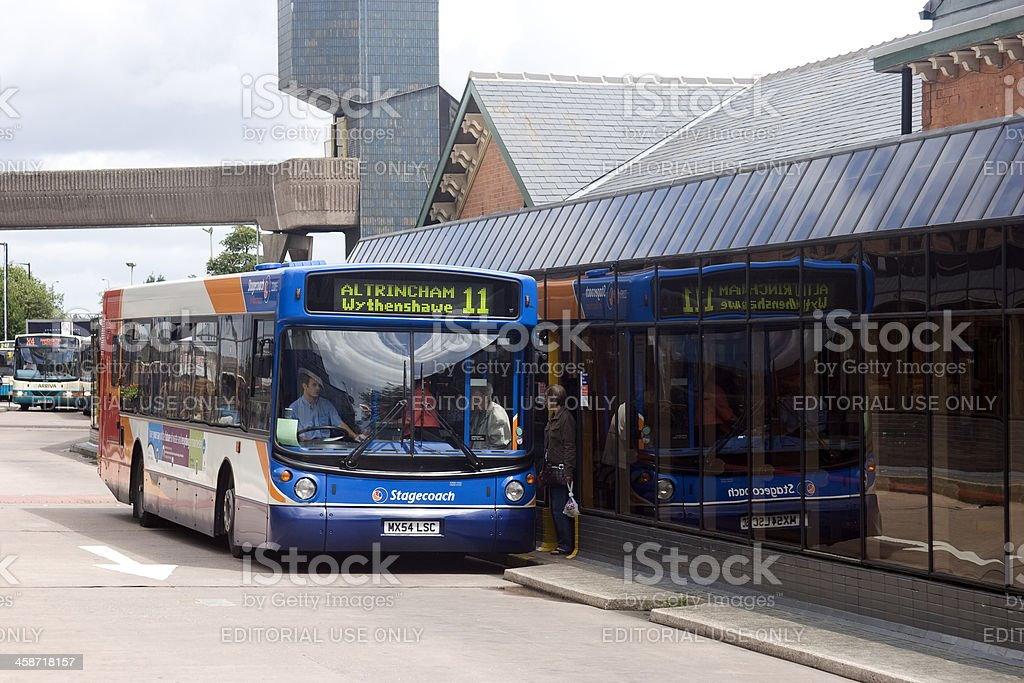Bus and coach station royalty-free stock photo