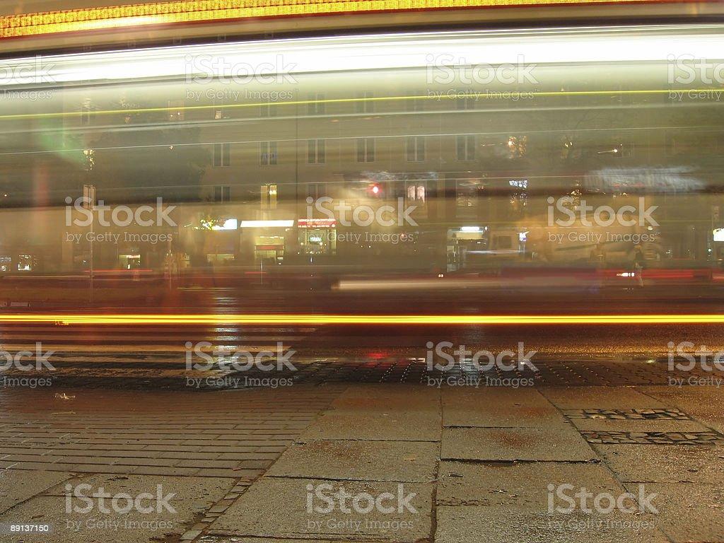 bus at night royalty-free stock photo