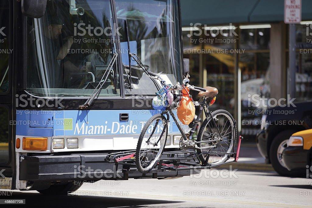 Bus Bike Rack stock photo