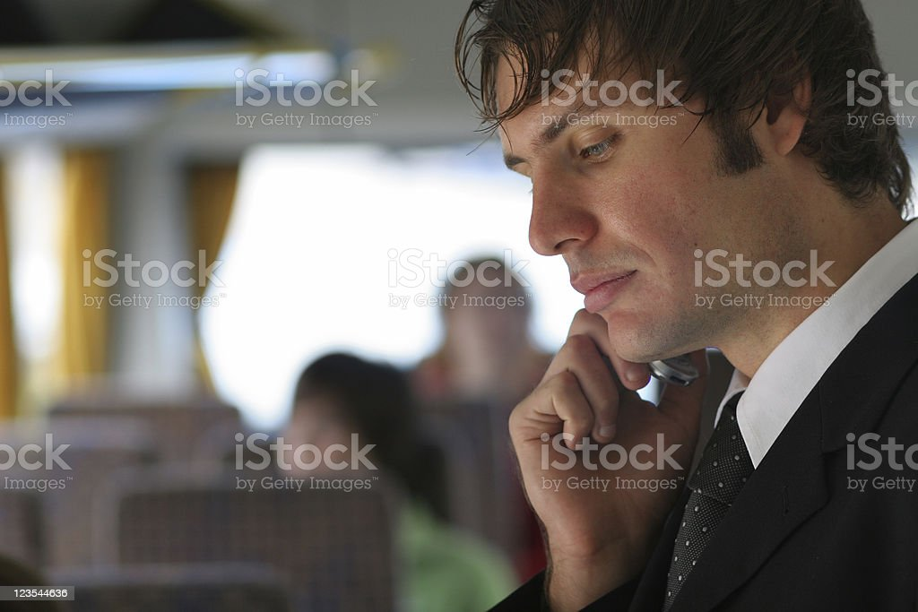 Bus businesspeople royalty-free stock photo