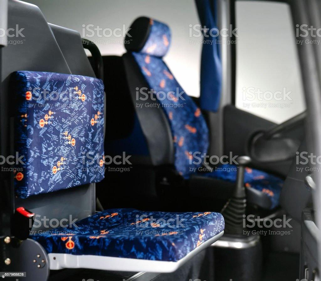 bus cockpit stock photo