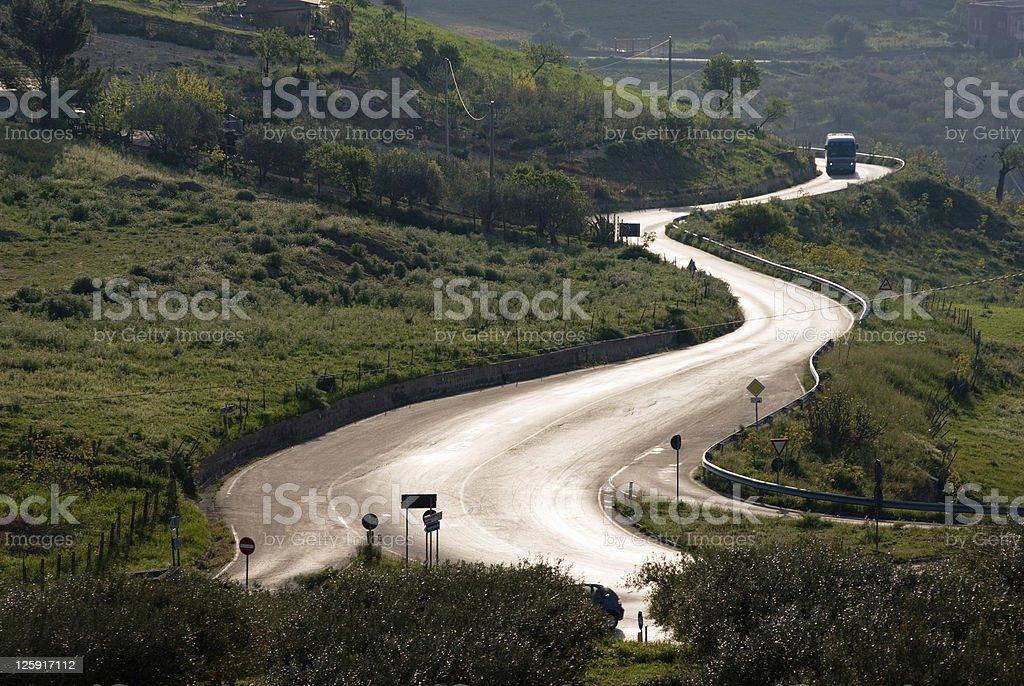 Autobus Cross country road avvolgimento a retroilluminazione - foto stock
