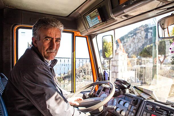 Conducteur de Bus pour l'Île de Capri, Italie - Photo