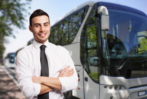 Bus driver stock photos