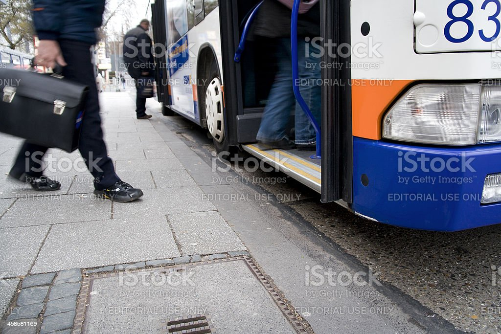 ESWE Bus entrance, close-up stock photo