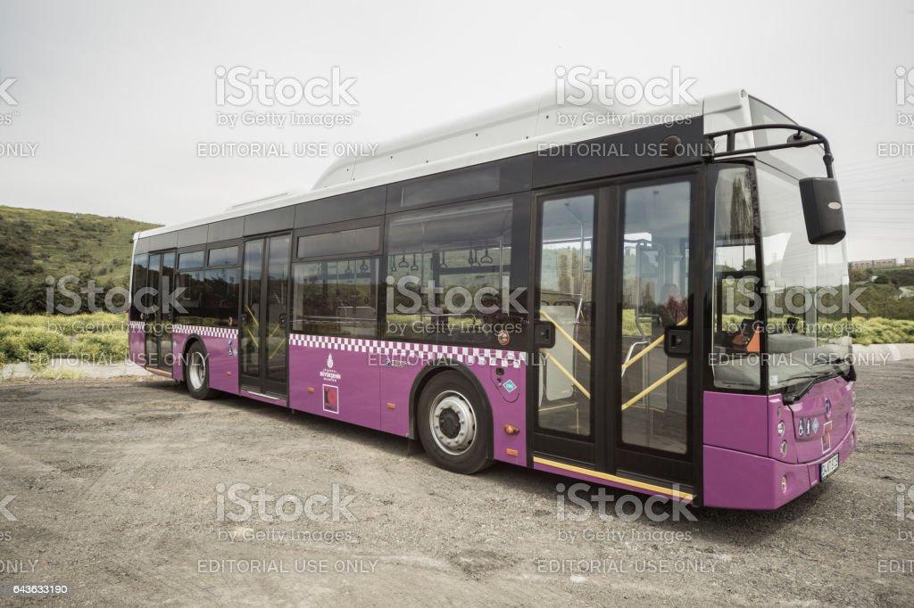 Bus for public transportation in Istanbul, Turkey. Urban transport...