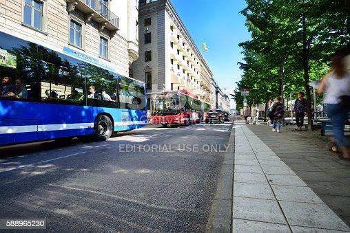 1060957508istockphoto Bus in city, motion blur 588965230