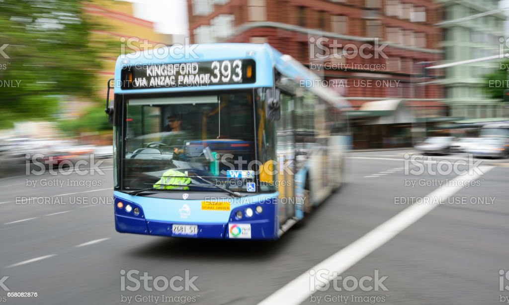Bus in city traffic, rush hour, motion blur royalty-free stock photo