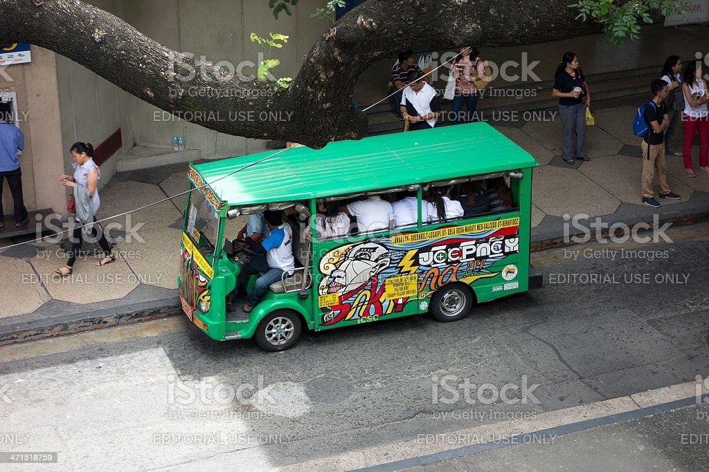 Bus in Metro Manila royalty-free stock photo