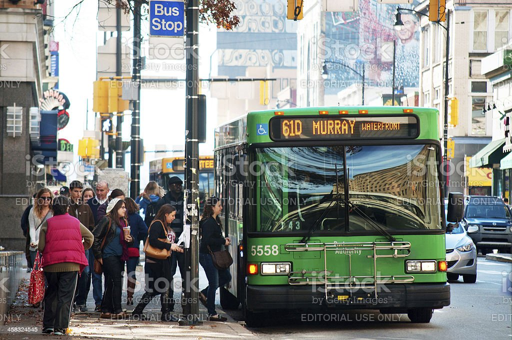 61D Bus in Pittsburgh - Royalty-free Bus Stock Photo
