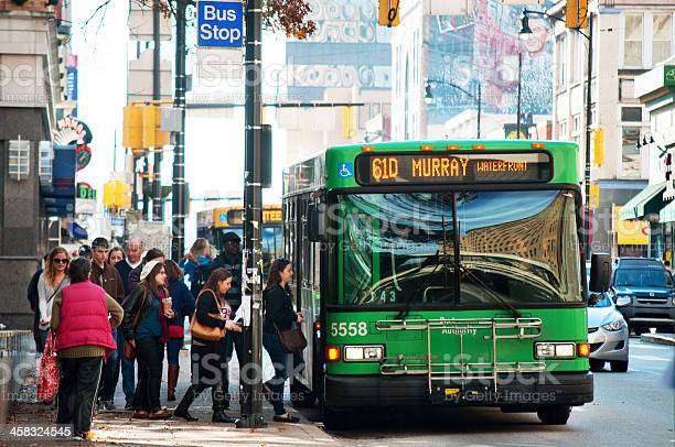 61d Bus In Pittsburgh Stock Photo - Download Image Now