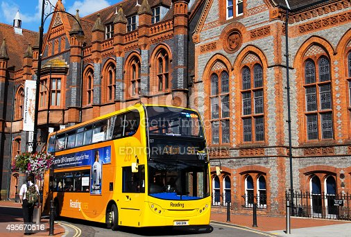 istock Bus in Reading 495670516