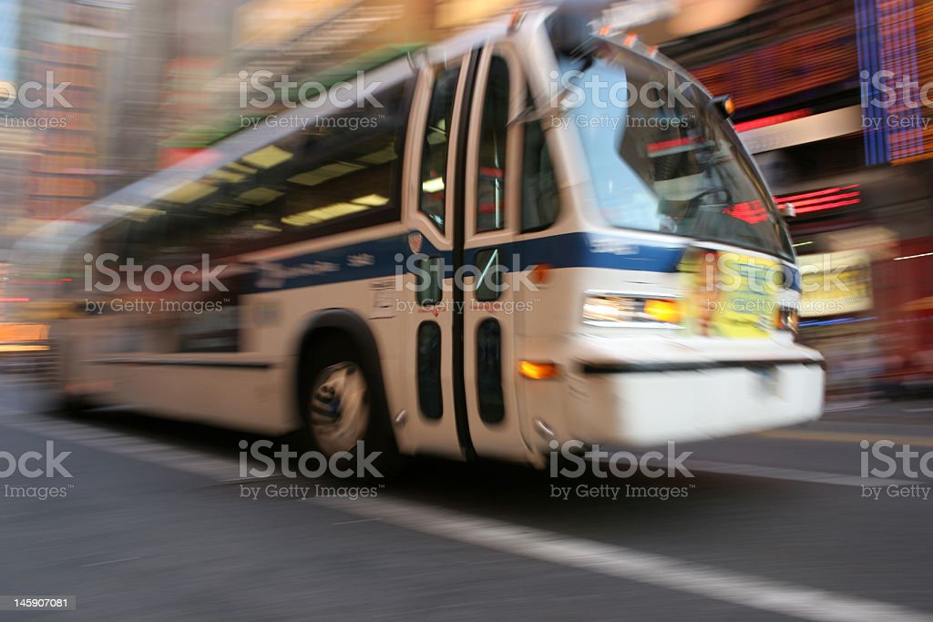 Bus in the city stock photo