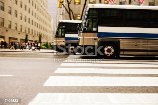 1060957508istockphoto Bus in the city traffic, rush hour, NYC 174958331