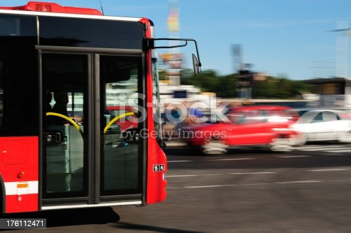 1060957508istockphoto Bus in the city traffic, rush hour 176112471