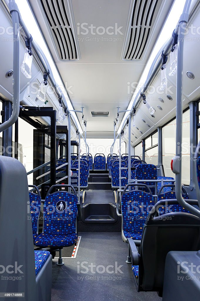 Bus inside stock photo