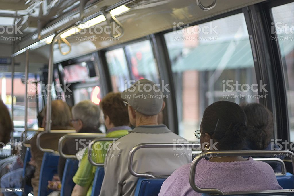 bus interior royalty-free stock photo