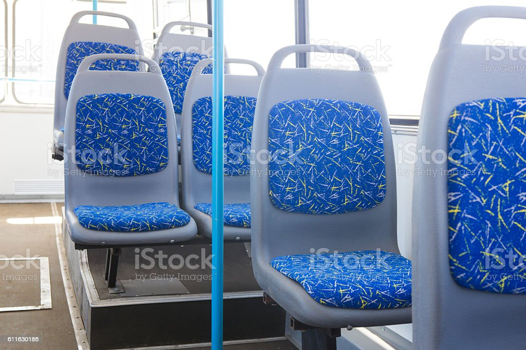 bus interior without people - foto de stock