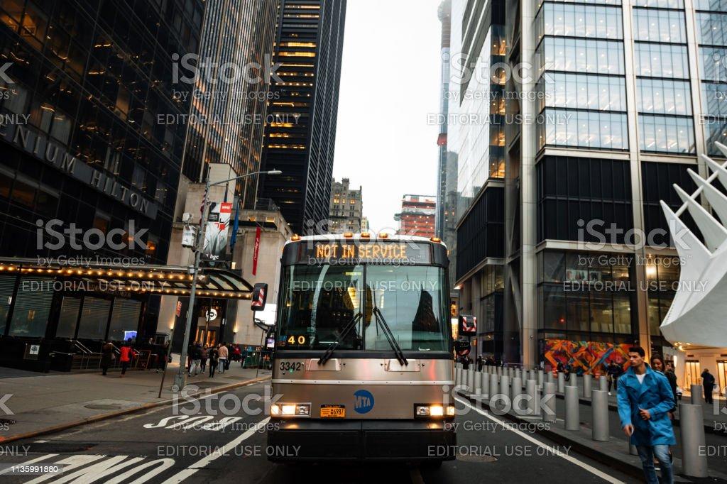Bus MTA New York Not in Service - fotografia de stock