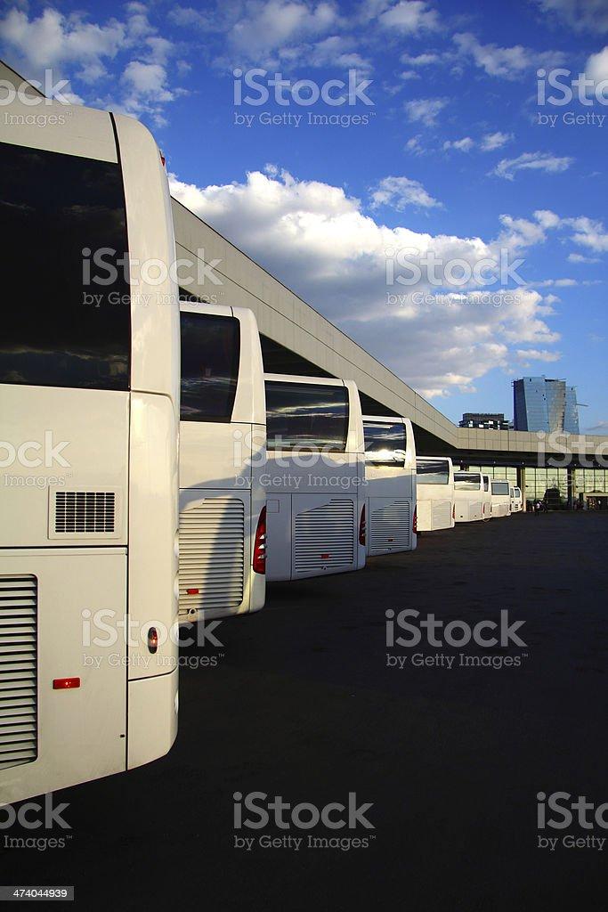 Bus Parking royalty-free stock photo