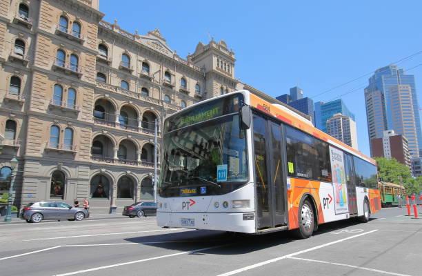 Bus public transport Melbourne Australia stock photo