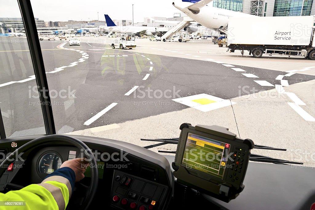 Bus Ride To Terminal stock photo