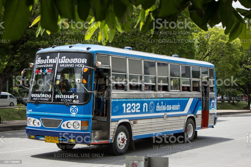 Bus Route Chiangmai And Hod Distric Stock Photo & More