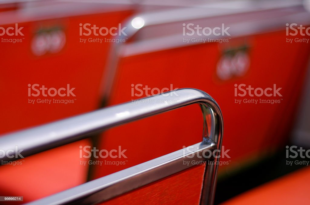 Bus Seat abstract stock photo