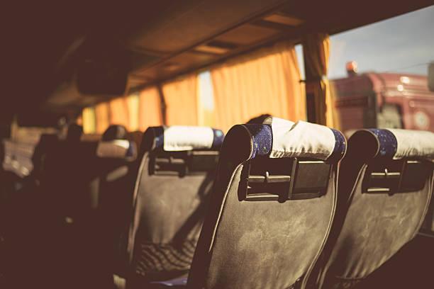 bus bietet florenz vintage - tour bus stock-fotos und bilder