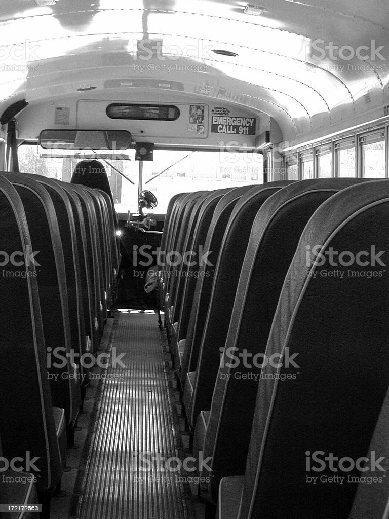 Bus Seats (Eighth Grade View) royalty-free stock photo