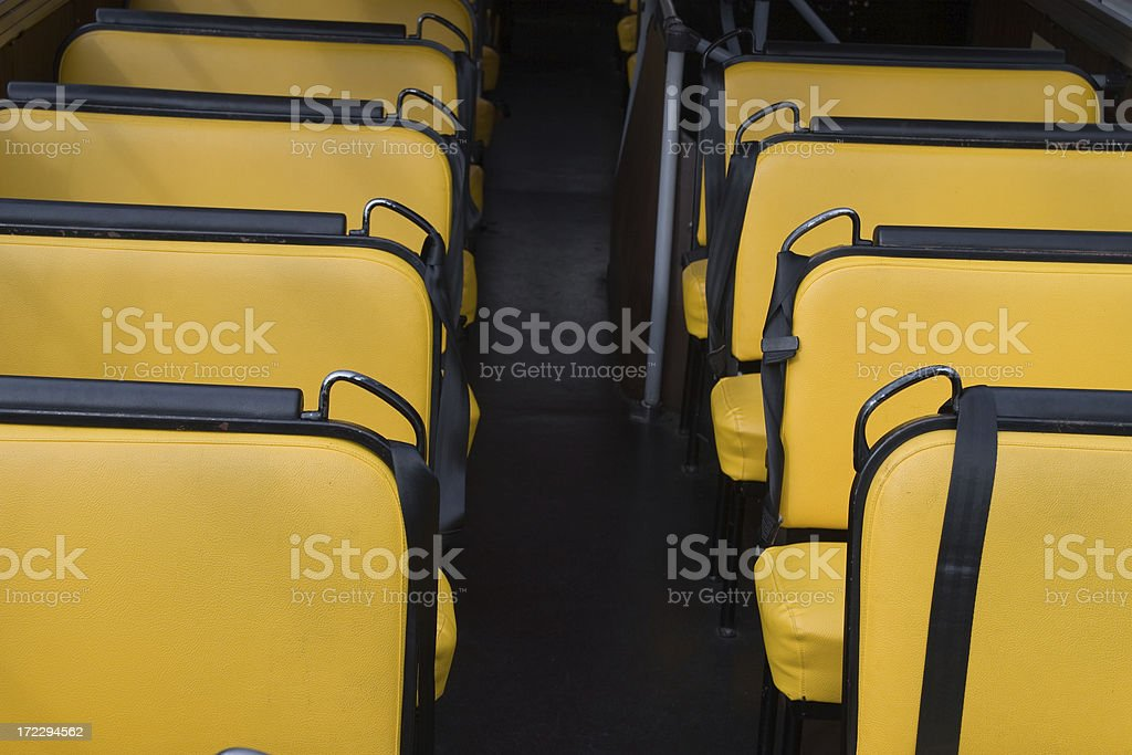 Bus seats royalty-free stock photo