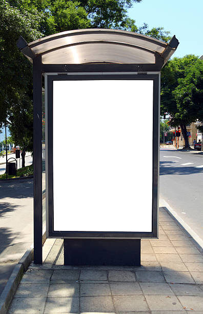 royalty free bus stop advertising pictures images and stock photos