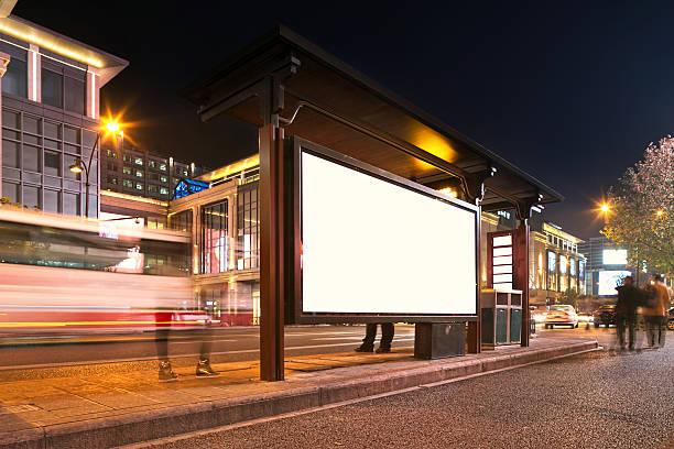 bus station bei Nacht – Foto