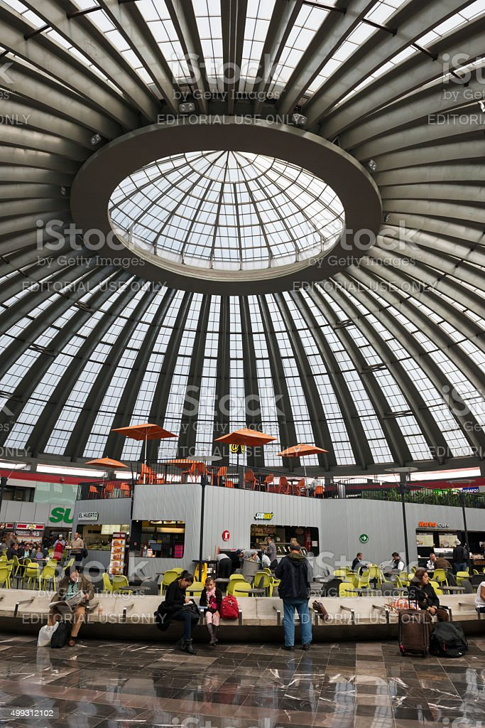 Tapo Bus Station In Mexico City Stock Photo