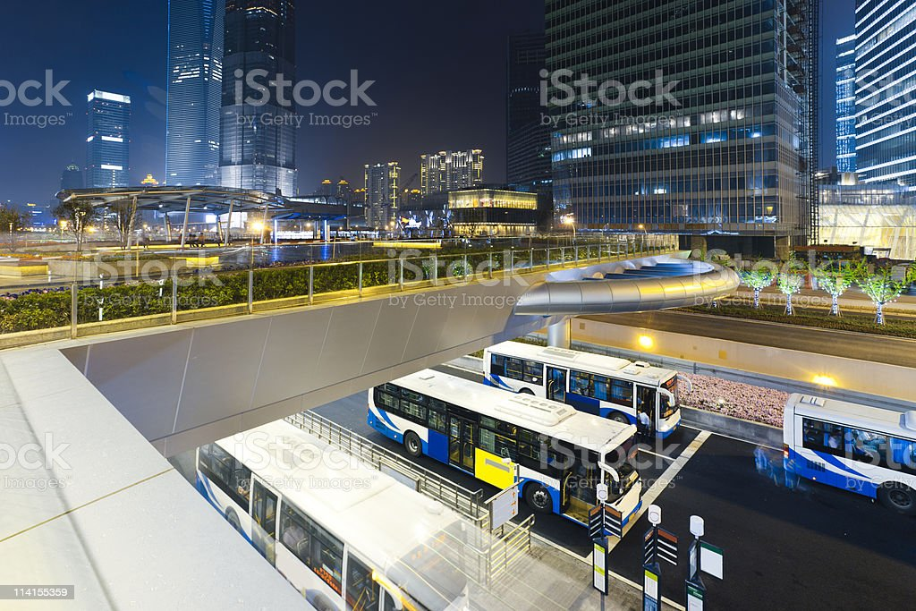 Bus stations stock photo
