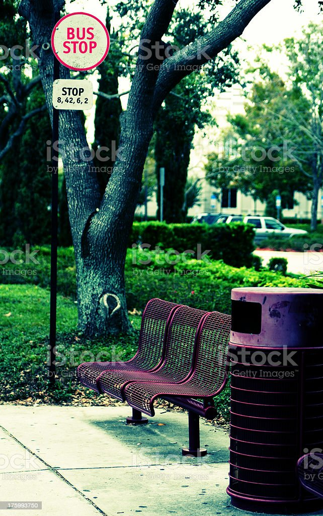 Bus Stop 1 (colored) royalty-free stock photo