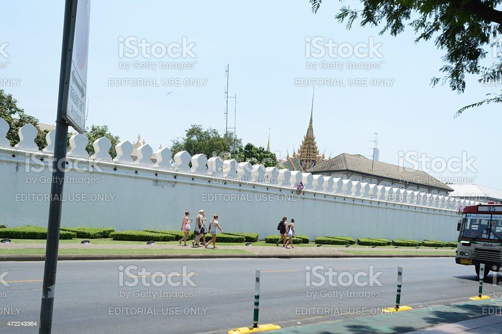 bus stop at Wang Lang stock photo