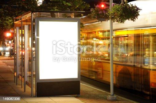 istock Bus Stop Billboard at Night 149082336