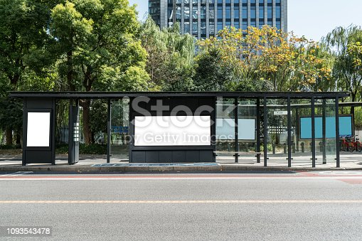 istock Bus stop billboard on stage,hangzhou,china 1093543478