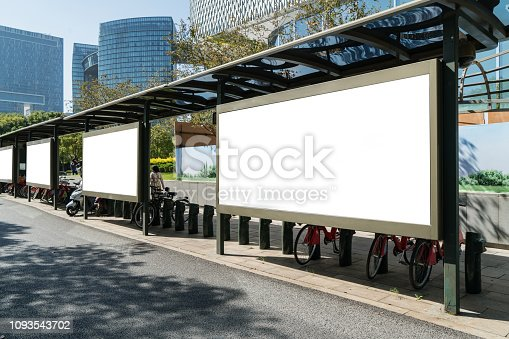 istock Bus stop billboard on stage,hangzhou,china 1093543702