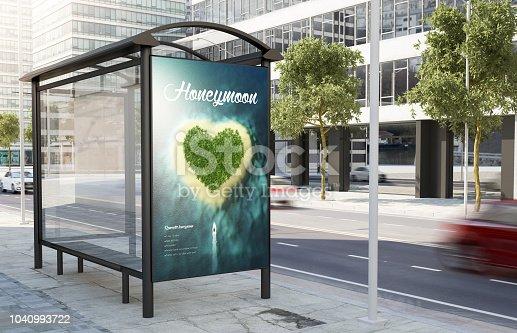 1036904778istockphoto bus stop honeymoon advertising  billboard 1040993722