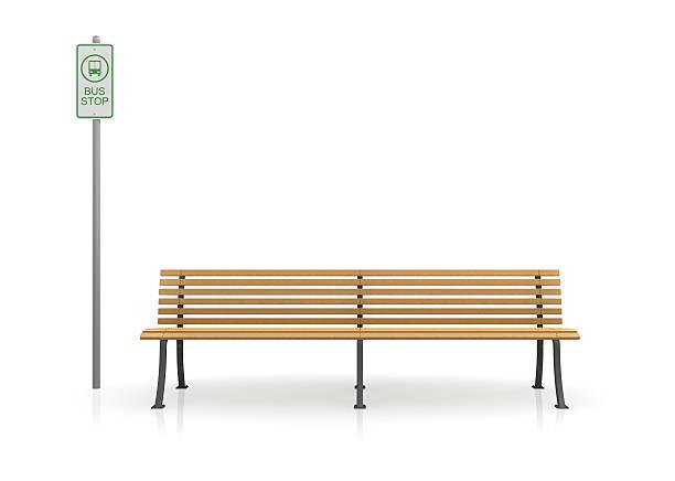bus stop - bushalte stockfoto's en -beelden