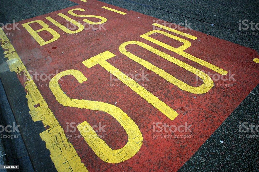 Fermata di autobus foto stock royalty-free