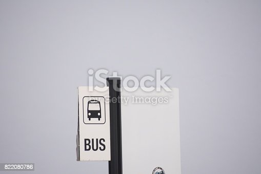 istock Bus stop - sign 822080786