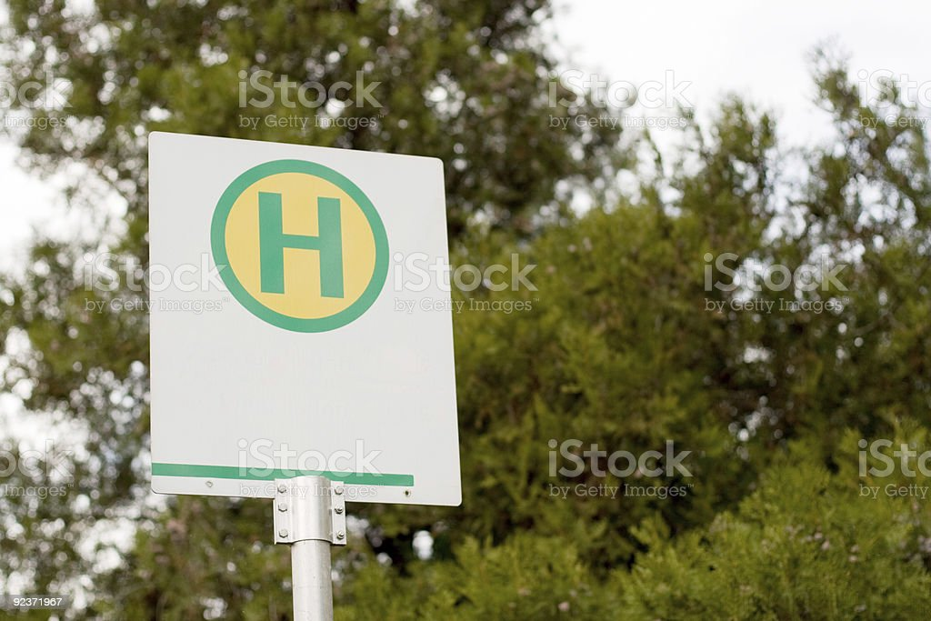 Bus Stop Sign royalty-free stock photo