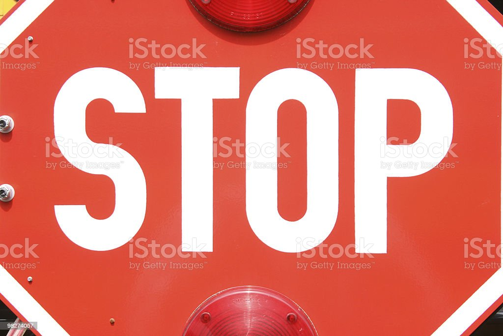 bus' stop sign royalty-free stock photo