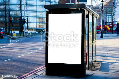 istock Bus stop with billboard 519965734
